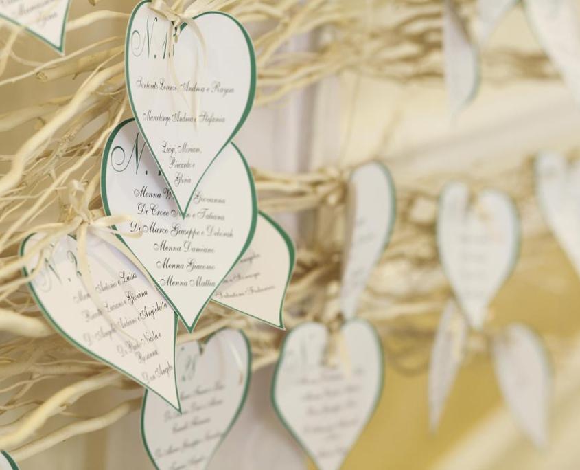 Dettaglio Tableau Albergo per Matrimoni